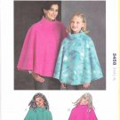 Kwik Sew Sewing Pattern 3458 Misses Girls Sizes S-XL Fleece Ponchos