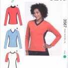 Kwik Sew Sewing Pattern 3567 M3567 Misses Sizes XS-XL (approx 8-22) Pullover Knit Top Sports Cycling