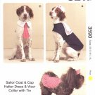 Kwik Sew Sewing Pattern 3590 Sizes XS-XL Dog Clothes Hats Tie Cape halter Dress