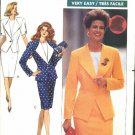 Butterick Sewing Pattern 3491 Misses Size 6-10 Easy Button Front Jacket Straight Skirt Top Suit