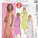 McCall's Sewing Pattern M4374 4374 Misses Size 10-16 2-Hour A-Line Cowl Neck Layered Dress
