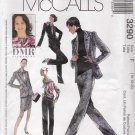 McCall's Sewing Pattern 3290 M3290 Misses Size 12-16 Pullover Blouse Lined Jacket Pants Skirt