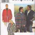 "Simplicity Sewing Pattern 9714 Misses Mens Unisex Chest Size 30-40"" Hooded Button Front Jacket"