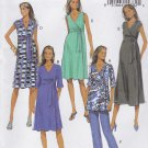 Butterick Sewing Pattern 5860 Misses Size 8-16 Easy Knit Maternity Front Wrap Dress Tops Pants