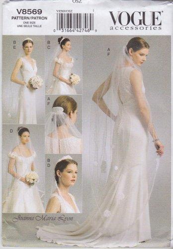 Vogue Sewing Pattern 8569 Vogue Accessories Bridal Wedding Veil