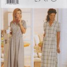 Butterick Sewing Pattern 4814 Misses Size 6-10 Button Front Short Sleeve Dress Mock Vest