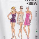 Kwik Sew Sewing Pattern 2589 Misses Size 8-22 Chemise Slip Camisole Shorts Tap Pants