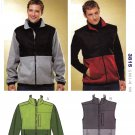 Kwik Sew Sewing Pattern K3815 3815 Men's Sizes S-XXL Knit Zipper Front Jacket Vest