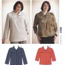 Kwik Sew Sewing Pattern 3821 K3821 Women's Plus Sizes 1X-4X Button Front Jacket Sleeve Options