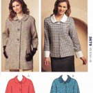Kwik Sew Sewing Pattern 3679 Misses Sizes XS-XL (approx. 8-22) Button Front Coat Jacket