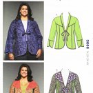 Kwik Sew Sewing Pattern 3666 Women's Plus Sizes 1X-4X Color Block Seam Detail Jacket