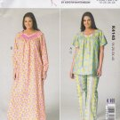 Kwik Sew Sewing Pattern 4145 Women's Plus Sizes 1X-4X (approx. 22W-32W) Nightgown Top Pants