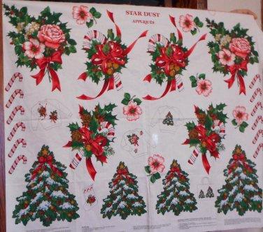 Star Dust Christmas Cotton Fabric Panel VIP Sweatshirts Stockings Décor