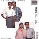 "McCall's Sewing Pattern 4056 Men's Misses Chest Size 40-42"" Shirt Sleeve Options"