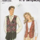 "Simplicity Sewing Pattern 9285 Mens Misses Chest Size 30 - 48"" Easy Lined Button Front Vest"