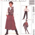 McCall's Sewing Pattern 4465 Misses Size 16-20 Easy Straight Pleated Skirts Pants