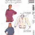 McCall's Sewing Pattern 4489 Misses Size 18-20 Nancy Zieman Knit Pullover Top