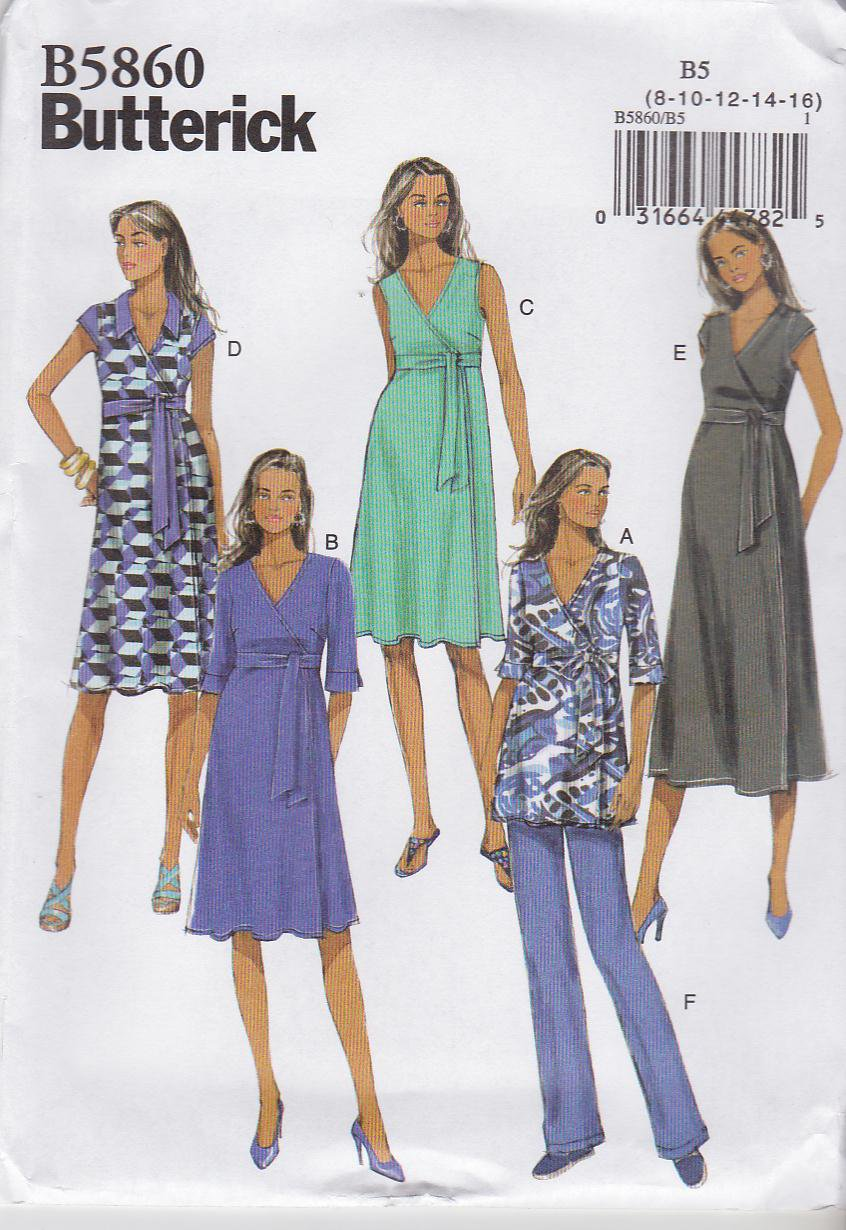 butterick sewing pattern 5860 b5860 misses size 16