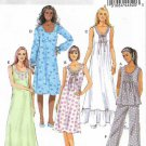 Butterick Sewing Pattern 5792 Misses Size 4-14 Easy Top Gown Pants Nightgown Pajamas