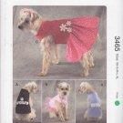 Kwik Sew Sewing Pattern 3465 Dog Shirts Dresses Sizes XS-XL