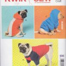 "Kwik Sew Sewing Pattern 4033 K4033 Dog Knit Coats Sizes XS-XL (8""-26"")"