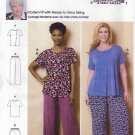 Butterick Sewing Pattern 6262 B6262 Women's Plus Size 18W-44W Loungewear Top Pants Connie Crawford