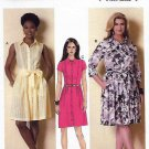 Butterick Sewing Pattern 6333 Womens Plus Size 18W-24W Easy Shirtwaist Button Front Dress