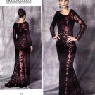 Vogue Sewing Pattern 1475 Misses Size 14-22 Badgley Mischka Cut-On Train Evening Wedding Gown