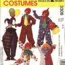 "McCall's Sewing Pattern 6142 M6142 3306 Misses Mens Chest Size 38-40"" Jumpsuit Clown Costumes Hats"