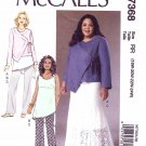 McCall's Sewing Pattern 7368 Womens Plus Sizes 18W-24W Khaliah Ali Wardrobe Jacket Skirt Top Pants