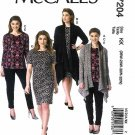 McCall's Sewing Pattern 7204 Women's Plus Size 26W-32W Knit Wardrobe Jackets Top Dress Pants.