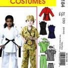 McCall's Sewing Pattern 6184 Boys Girls Size 6-8 Easy Costumes Karate Prisoner Scrub Uniform