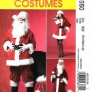 "McCall's Sewing Pattern 5550 Men's Misses Chest Size 34-44"" Santa Costumes Bag Two Lengths Coat"