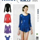 Kwik Sew Sewing Pattern 3502 Misses Sizes XS-XL (approx 8-22) Leotard Skirt Dance Skate