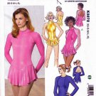 Kwik Sew Sewing Pattern 3272 Misses Sizes XS-XL (approx 8-22) Leotard Skirt Dance Skate