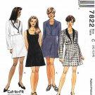 McCall's Sewing Pattern 7822 Misses Sizes 10-14  Princess Seam Dress Jacket Bolero