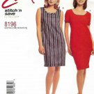 McCall's Sewing Pattern 8196 Misses Size 18-24 Easy Straight Dress Sleeveless Short Sleeves