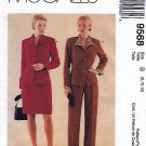 McCall's Sewing Pattern 9568 Misses Sizes 8-12 Lined Button Front Jacket Pants Skirt