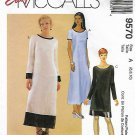 McCall's Sewing Pattern 9570 Misses Sizes 6-10 Easy Long Short Sleeve Dress Length Options