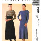 McCall's Sewing Pattern 9587 M9587 Misses Sizes 8-12 Easy Long Sleeve Knit Dress