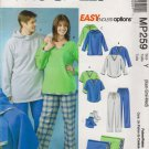 "McCall's Sewing Pattern MP259 4675 Misses Mens Chest Size 29 1/2 - 36"" Easy Pajamas Pants Top"
