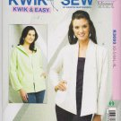 Kwik Sew Sewing Pattern 3693 Misses Sizes XS-XL (approx 8-22) Easy Misses' Open-Front Cardigans