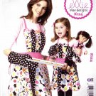 "Kwik Sew Sewing Pattern 0124 K124 Adult Children Sizes S-L Mom Girl 18"" Doll Aprons Oven Mitt"