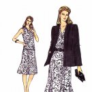 Vogue Sewing Pattern 8233 V8233 Misses Size 18-22 Easy Jacket Top Pleated Skirt