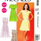 McCalls Sewing Pattern 6958 Misses Size 8-16 Easy Tucked Dresses Sleeve Options