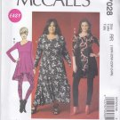 McCall's Sewing Pattern 7028 Misses Size 8-16 Easy Pullover Knit Dress Tunic Leggings
