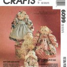 McCall's Sewing Pattern 6099 771 Buttons and Bows Mother Baby Soft Sculpture Dolls