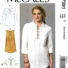 McCall's Sewing Pattern 7391 Misses Size 4-14 Easy Tops Tunic Dress Sleeve Options