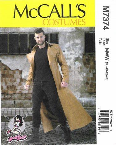McCall's Sewing Pattern 7374 Men's Size 46-52 Yaya Han Cosplay Costume Coat Long Sleeves