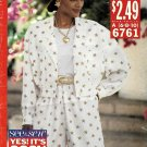 Butterick Sewing Pattern 6761 Misses Size 6-10 Easy Long Sleeve Jacket Split Skirt Gaucho Culottes